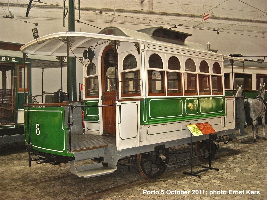 Mule tram of the same type but shorter model as the first ones used