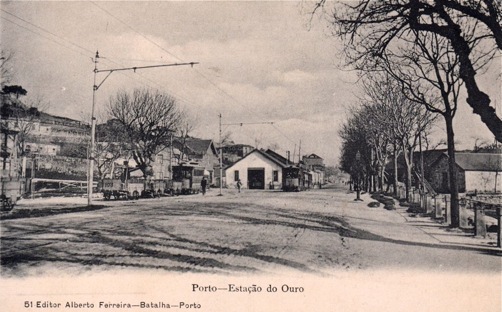 The depot of the tram around 1903